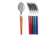 6 Teas spoon set – coloured flatware Laguiole Evolution Sens