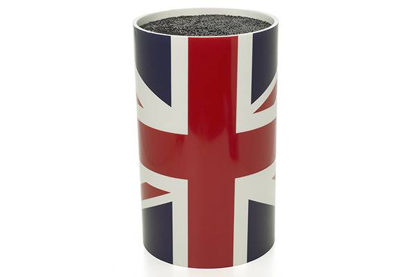 Knife block, round – English flag