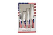 4-Kitchen knife set Flag/Pays – Ceramic blade