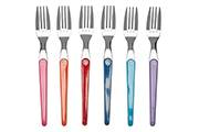 6 coloured table fork set – Laguiole Evolution Acidulé