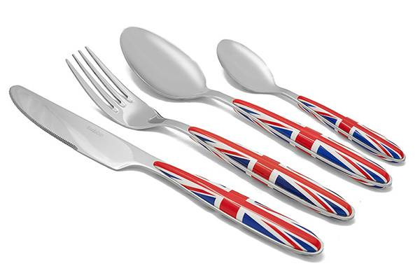 Stainless steel cutlery set Inédit – 16-piece forged steel design flatware