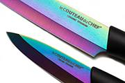 2-Kitchen knife set Titanium – Ceramic blade