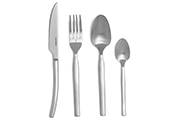 Curving design cutlery set – 16-piece forged stainless steel flatware set