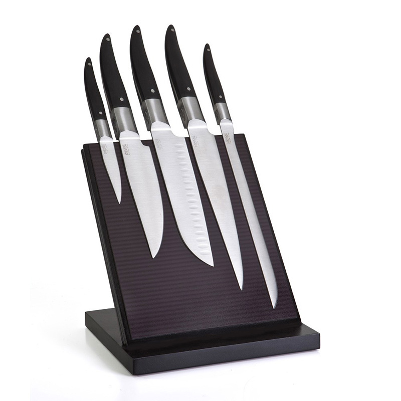 5 Kitchen Knife Block Laguiole Evolution Forg