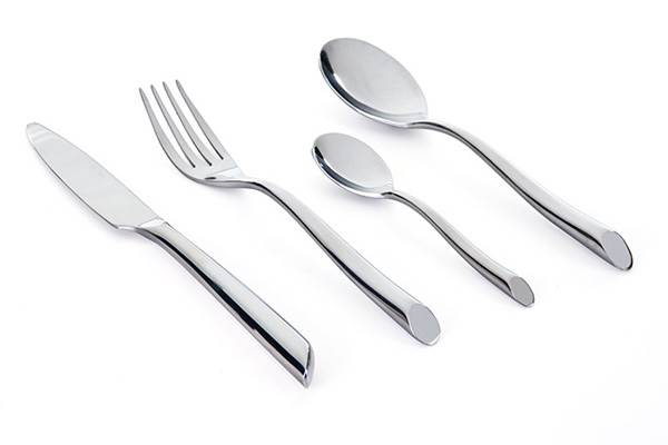 Stainless steel cutlery set Select – 16-piece forged steel design flatware Groupe and sig