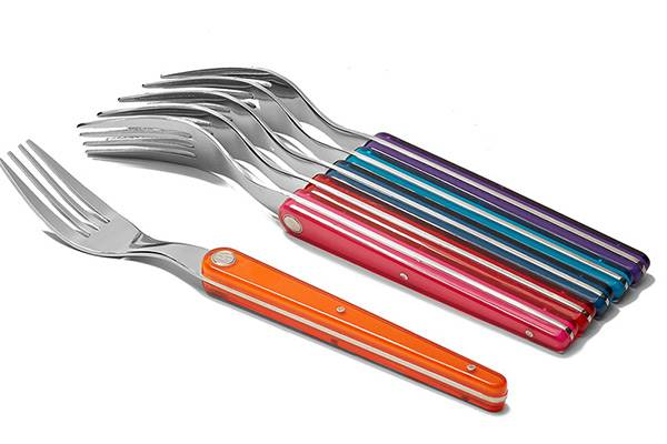 6-Multicoloured fork set – Laguiole Evolution Sens flatware