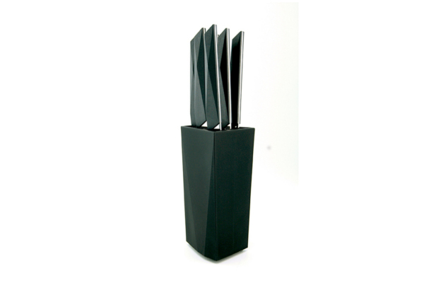 Furtif 6-piece steak knife set, 11-cm blade and knife block – Made in France