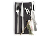 Collioure Flatware in stainless steel - 16 place settings - 18/10 steel