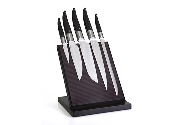 5-kitchen knife magnetic block – Laguiole Evolution Forgé Expression