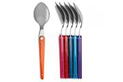 6-stainless steel table spoons- Laguiole Evolution Sens coloured flatware