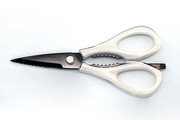 Laguiole Evolution professional-grade kitchen scissors – White