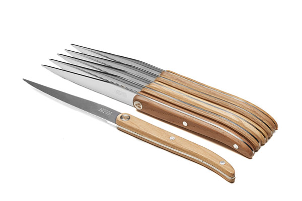 6-steak knife set, wood handle – Laguiole Evolution Sens