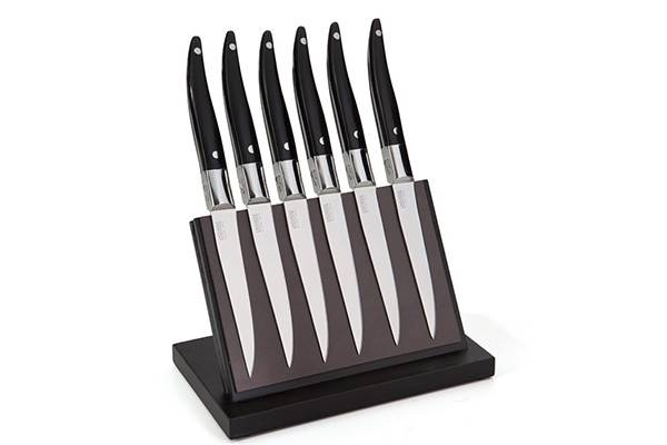 Magnetic block with 6-Laguiole Evolution Forgés steak knives